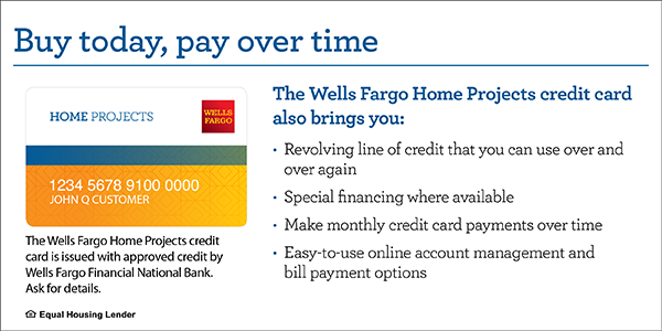 Wells Fargo Special Financing Credit Card